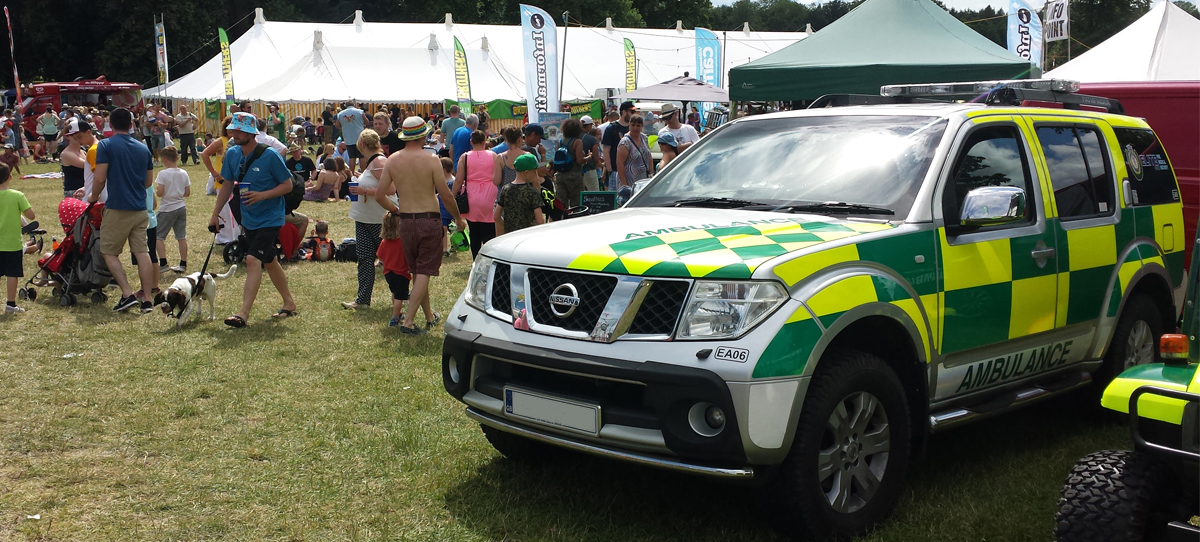 event medics vehicle
